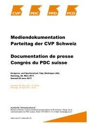 Medienmappe - CVP