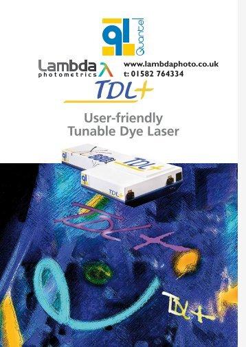 User-friendly Tunable Dye Laser - Lambda Photometrics
