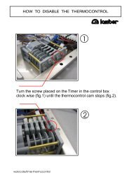 Turn the screw placed on the Timer in the control box clock ... - Lamber