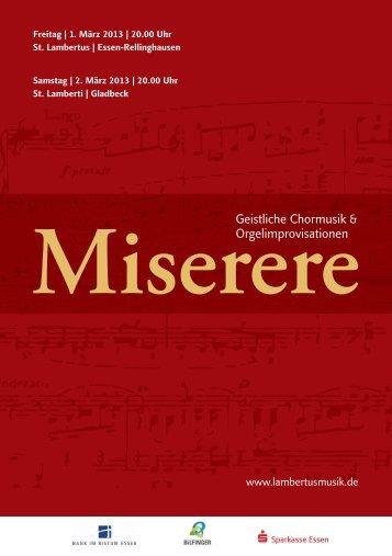 Geistliche Chormusik & Orgelimprovisationen - Lambertusmusik