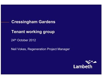Open the Presentation to Tenants - Lambeth Council