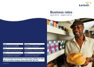 Open the Business rates guide 2012/13 - Lambeth Council