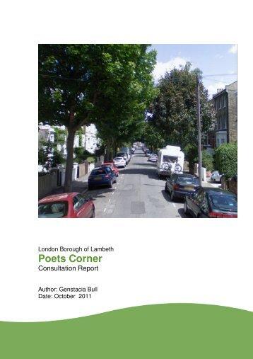 Poet corner consultation report - Lambeth Council