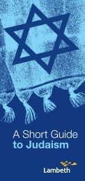 Open the ShortGuideToJudaism.pdf - Lambeth Council