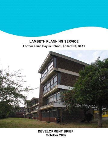 Lilian Baylis Development Brief Final - Lambeth Council