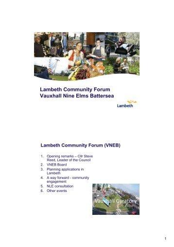 May 2011 VNEB presentation - Lambeth Council