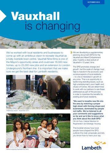 draft Vauxhall SPD consultation - summary booklet - Lambeth Council
