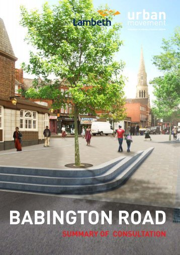 Open the Babington Road Consultation ... - Lambeth Council