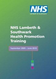 NHS Lambeth & Southwark Health Promotion Training