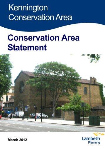 Kennington Conservation Area Statement 26 ... - Lambeth Council