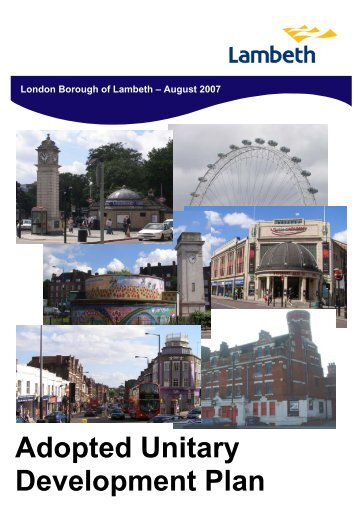 Adopted Unitary Development Plan - Lambeth Council