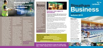 Open the Streatham Business Newsletter ... - Lambeth Council