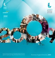 Business Support Directory 2009 - Lambeth Council