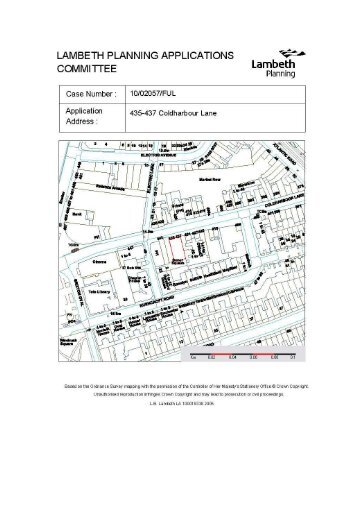 (Coldharbour Ward) (10/02057/FUL) PDF 308 KB - Lambeth Council