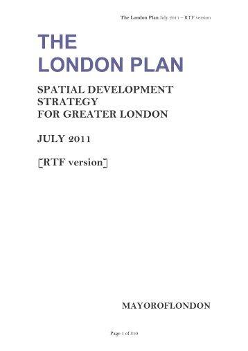 London Plan 2011 PDF 1 MB - Lambeth Council