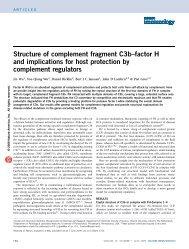 Structure of complement fragment C3b–factor H ... - John D. Lambris