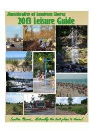 2013 Leisure Guide-Final - The Municipality of Lambton Shores