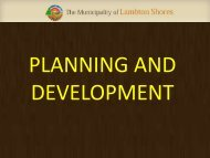 See attached presentation (PDF) - The Municipality of Lambton Shores