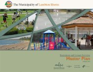 Recreation & Leisure Services Master Plan - The Municipality of ...