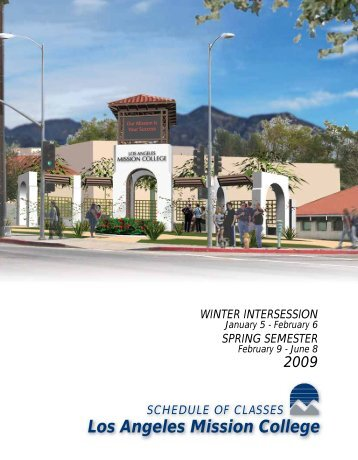 Spring 2009 Schedule - Los Angeles Mission College