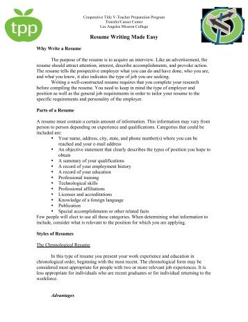 Resume Writing Made Easy A Practical Guide To Resume Preparation Resume  Writing The Ultimate Guide To