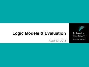 Logic Models & Evaluation