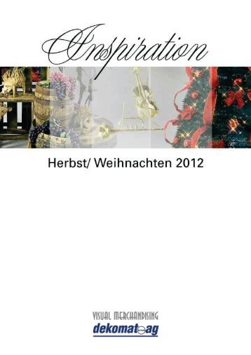 Übersicht Saison- und Standardartikel Herbst/ Weihnachten 2012