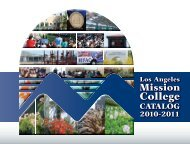 2010-2011 Catalog - Los Angeles Mission College