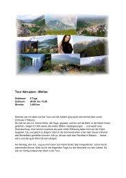 Tour Abruzzen - Molise - Lammis-Moto-Site