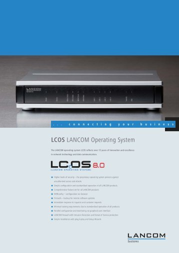LCOS LANCOM Operating System - LANCOM Systems GmbH