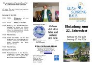 Einladung zum 32. Jahresfest - Elias-Schrenk-Haus in Tuttlingen