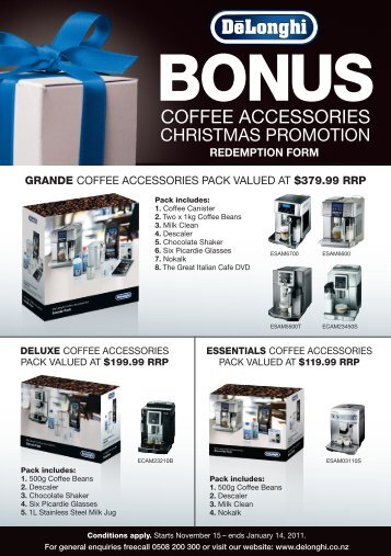 GRANDE COFFEE ACCESSORIES PACK VALUED ... - New Zealand