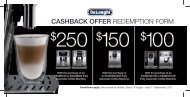 CASHBACK OFFER REDEMPTION FORM - DeLonghi