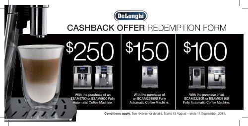 delonghi cashback coupon nummer