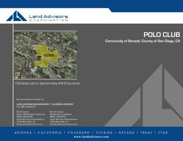POLO CLUB CLUB - Land Advisors Organization