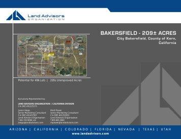 BAKERSFIELD - 209± ACRES - Land Advisors Organization