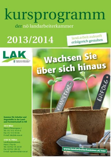 kursprogramm 2013.pdf - Landarbeiterkammer