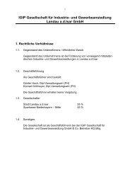 IGIP Gesellschaft für Industrie- und Gewerbeansiedlung Landau a.d. ...