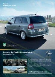 Die Opel Zafira Business-Pakete. - LandBonus