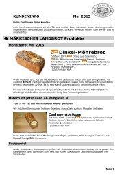 Kundeninfo Mai 2013 - Märkisches Landbrot