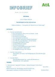 AoeL Infobrief November 2013 - Märkisches Landbrot