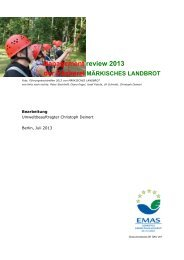 Management review 2013 - Märkisches Landbrot