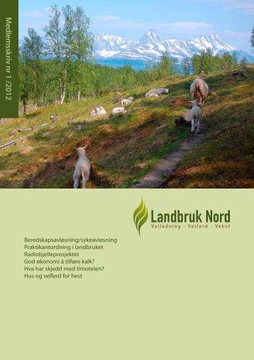 Medlemsskriv 1/2012 - Landbruk Nord