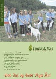 Medlemsskriv 3/2009 - Landbruk Nord