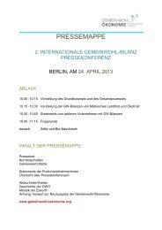 Pressemappe Gemeinwohl-Bilanz Pressekonferenz Berlin