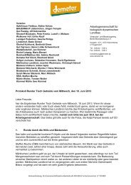 Runder Tisch Getreide 2013 - Märkisches Landbrot