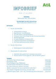 AoeL Infobrief Dezember 2013 - Märkisches Landbrot