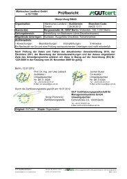 Auditbericht Stufe 2 - Märkisches Landbrot
