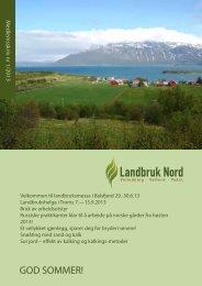 Medlemsskriv 1/2013 - Landbruk Nord