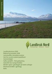 Medlemsskriv 2/2009 - Landbruk Nord